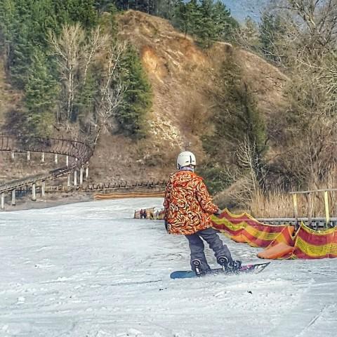 На сноуборде в Киеве