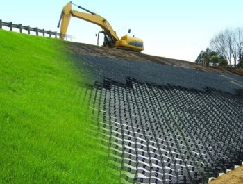 Как укрепить крутые склоны и откосы геоматериалами?